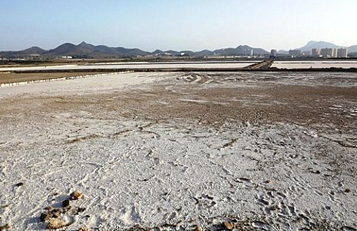 Mar Menor, water again flowing into the Marchamalo salt flats