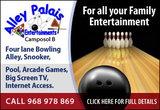 Alley Palais Entertainment Ten Pin bowling, Snooker, Pool and big screen TV