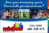Internet TV making big satellite dishes redundant. Rainbow Satellites April Newsletter