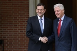 Bill Clinton in meeting with Spanish Premier Rajoy