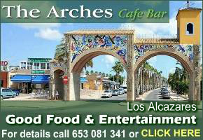 The Arches restaurant Los Alcazares